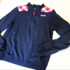 Girls Vineyard Vines 1/4 Zip Pullover Sz L(14)